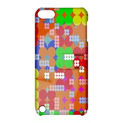 Abstract Polka Dot Pattern Apple Ipod Touch 5 Hardshell Case With Stand by Nexatart