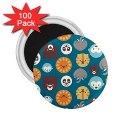 Animal Pattern 2 25  Magnets (100 Pack)  by Nexatart