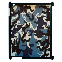 Blue Water Camouflage Apple Ipad 2 Case (black) by Nexatart