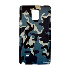 Blue Water Camouflage Samsung Galaxy Note 4 Hardshell Case by Nexatart