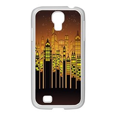 Buildings Skyscrapers City Samsung GALAXY S4 I9500/ I9505 Case (White)