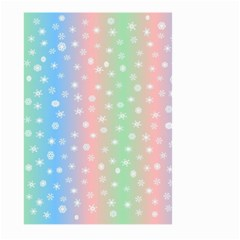 Christmas Happy Holidays Snowflakes Large Garden Flag (two Sides) by Nexatart
