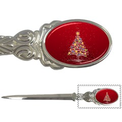 Colorful Christmas Tree Letter Openers by Nexatart