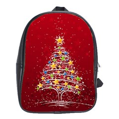 Colorful Christmas Tree School Bags (xl)  by Nexatart