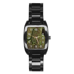 Fractal Complexity 3d Dimensional Stainless Steel Barrel Watch by Nexatart