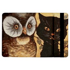 Owl And Black Cat Ipad Air Flip by Nexatart