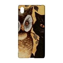 Owl And Black Cat Sony Xperia Z3+ by Nexatart