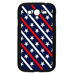 Patriotic Red White Blue Stars Samsung Galaxy Grand Duos I9082 Case (black) by Nexatart