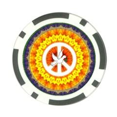 Peace Art Artwork Love Dove Poker Chip Card Guard (10 Pack)