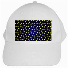 Star Christmas Yellow White Cap by Nexatart