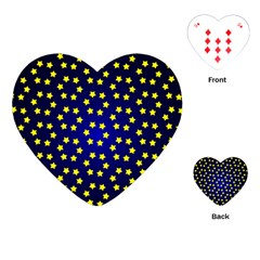 Star Christmas Yellow Playing Cards (heart)  by Nexatart