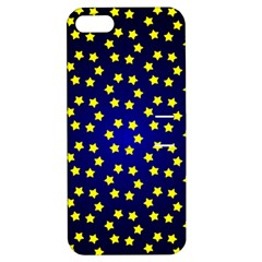 Star Christmas Yellow Apple iPhone 5 Hardshell Case with Stand by Nexatart