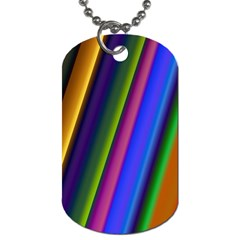 Strip Colorful Pipes Books Color Dog Tag (one Side) by Nexatart