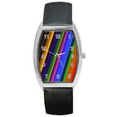Strip Colorful Pipes Books Color Barrel Style Metal Watch by Nexatart