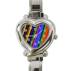 Strip Colorful Pipes Books Color Heart Italian Charm Watch by Nexatart