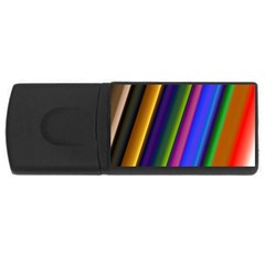 Strip Colorful Pipes Books Color Usb Flash Drive Rectangular (4 Gb) by Nexatart