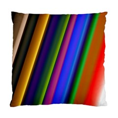 Strip Colorful Pipes Books Color Standard Cushion Case (one Side) by Nexatart