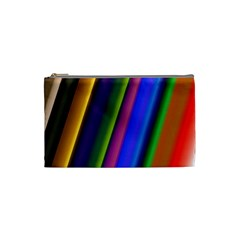 Strip Colorful Pipes Books Color Cosmetic Bag (small)  by Nexatart