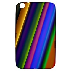 Strip Colorful Pipes Books Color Samsung Galaxy Tab 3 (8 ) T3100 Hardshell Case  by Nexatart