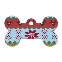 Ugly Christmas Xmas Dog Tag Bone (two Sides) by Nexatart