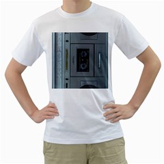 Vintage Tape Recorder Men s T Shirt (white) (two Sided) by Nexatart