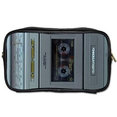 Vintage Tape Recorder Toiletries Bags 2 Side by Nexatart