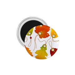 Vector Beautiful Maple Leaf 1 75  Magnets by Nexatart