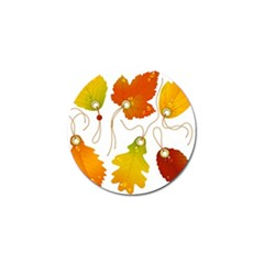 Vector Beautiful Maple Leaf Golf Ball Marker (10 Pack)