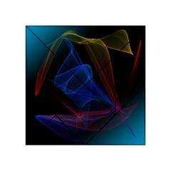 Lines Rays Background Light Pattern Acrylic Tangram Puzzle (4  x 4 ) by Nexatart