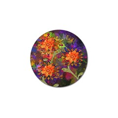 Abstract Flowers Floral Decorative Golf Ball Marker (4 pack)