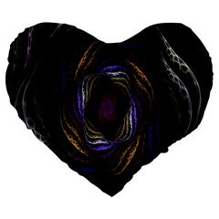 Abstract Fractal Art Large 19  Premium Heart Shape Cushions by Nexatart