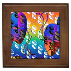 Abstract Mask Artwork Digital Art Framed Tiles by Nexatart