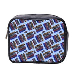 Abstract Pattern Seamless Artwork Mini Toiletries Bag 2 Side by Nexatart