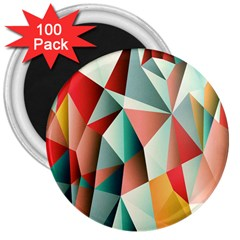 Abstracts Colour 3  Magnets (100 Pack) by Nexatart