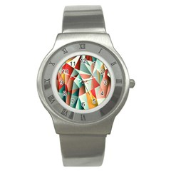 Abstracts Colour Stainless Steel Watch by Nexatart