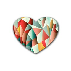 Abstracts Colour Rubber Coaster (heart)  by Nexatart