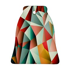 Abstracts Colour Bell Ornament (two Sides) by Nexatart