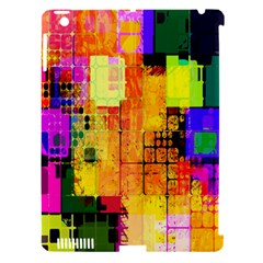 Abstract Squares Background Pattern Apple iPad 3/4 Hardshell Case (Compatible with Smart Cover) by Nexatart