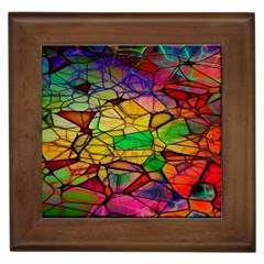 Abstract Squares Triangle Polygon Framed Tiles by Nexatart
