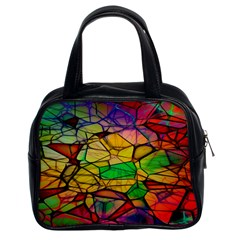 Abstract Squares Triangle Polygon Classic Handbags (2 Sides) by Nexatart