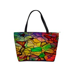 Abstract Squares Triangle Polygon Shoulder Handbags by Nexatart