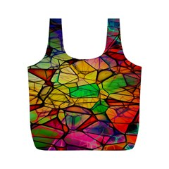 Abstract Squares Triangle Polygon Full Print Recycle Bags (m)  by Nexatart