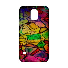 Abstract Squares Triangle Polygon Samsung Galaxy S5 Hardshell Case  by Nexatart