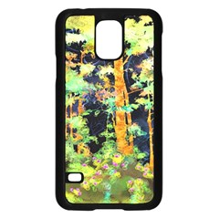 Abstract Trees Flowers Landscape Samsung Galaxy S5 Case (black) by Nexatart