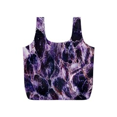 Agate Naturalpurple Stone Full Print Recycle Bags (s)  by Alisyart