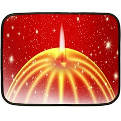 Advent Candle Star Christmas Double Sided Fleece Blanket (Mini)