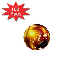 Advent Star Christmas 1  Mini Buttons (100 Pack)  by Nexatart