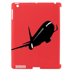 Air Plane Boeing Red Black Fly Apple Ipad 3/4 Hardshell Case (compatible With Smart Cover) by Alisyart