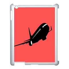 Air Plane Boeing Red Black Fly Apple Ipad 3/4 Case (white)