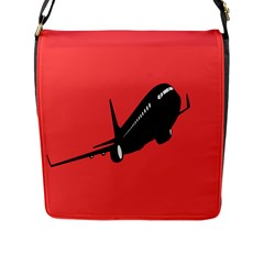 Air Plane Boeing Red Black Fly Flap Messenger Bag (l)  by Alisyart